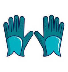 Blue golf gloves icon cartoon style vector