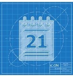 calendar icon Eps10 vector image