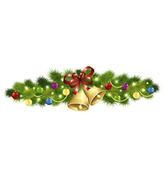 Christmas fir garland vector