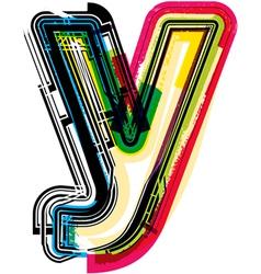 Colorful Grunge font LETTER y vector image