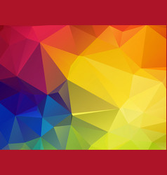 colorful mosaic triangle background vector image