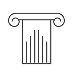 Column structure silhouette icon vector