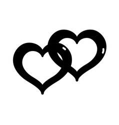 Contour nice heart symbol to love and passion vector