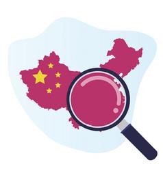 coronavirus 2019 ncov china design element vector image