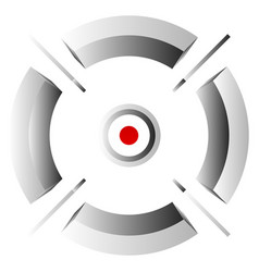 Crosshair cross-hair target mark icon precision vector