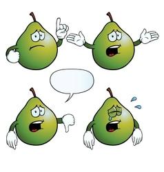 Crying pear set vector image