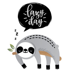 Cute astonished sloth bear animal vector