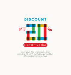 Discount up to 20 off limited time only label vector