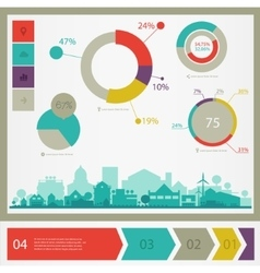 Eco town infographics vector