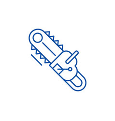 electric saw line icon concept electric saw flat vector image