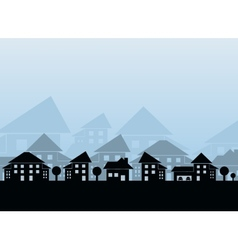 Estate skyline vector image