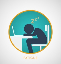 Fatigue Poster vector image