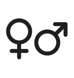 Female and male gender icons isolated man sex vector