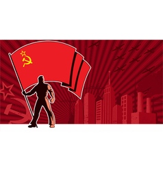 Flag Bearer USSR Background vector