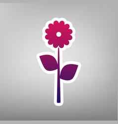 flower sign purple gradient vector image