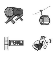 Forestry finance and other monochrome icon in vector