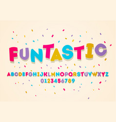 fun uppercase display alphabet colorful kids vector image