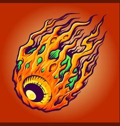 galaxy eye horror vector image