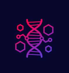 genetic engineering and dna modification icon vector image