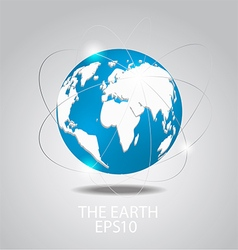Globe icon Planet earth vector image