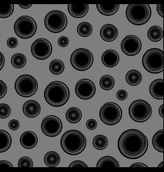 Grunge round seamless pattern vector