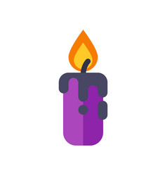 halloween candle vector image