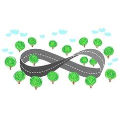 Highway as a Moebius strip vector
