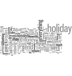 How to prepare holiday essentials vector