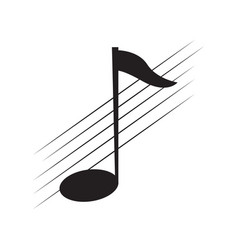 isolated eighth note on a pentagram vector image