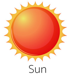 Isolated sun on white background vector