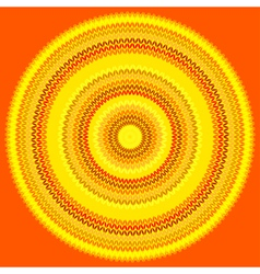 knit sun vector image