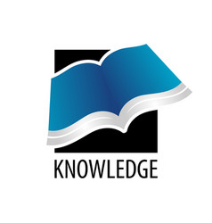 knowledge square open book icon logo concept vector image