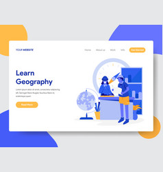 learn geography concept vector image