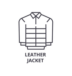leather jacket line icon outline sign linear vector image