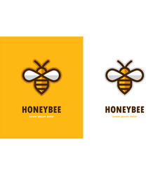 Linear bee icon vector