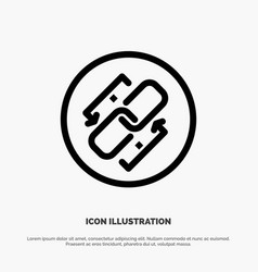 Link chain url connection link line icon vector