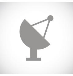 Locator black icon vector