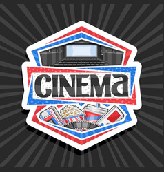 logo for cinema vector image
