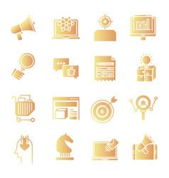 Marketing gradient icons vector