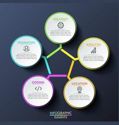 Modern infographic design template circular vector