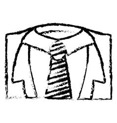 Necktie male fashion vector