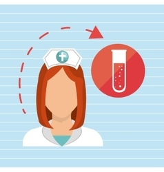 Nurse health care service vector