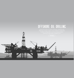 offshore oil rigs vector image