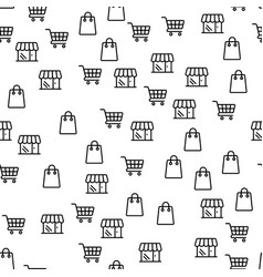 online shop offer large discounts seamless pattern vector image