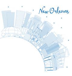 Outline new orleans louisiana city skyline vector