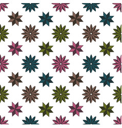 Pattern shape star background vector