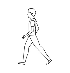 person walking isolated icon vector image