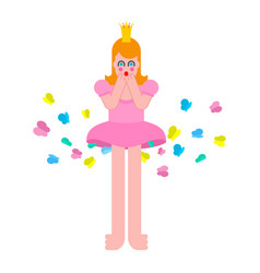 princess fart butterfly woman farting sweet girl vector image