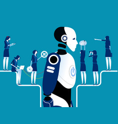 Robot or artificial intelligence concept vector