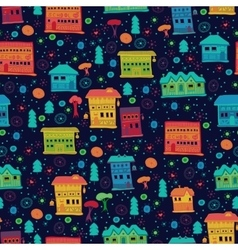 Seamless pattern of narrow houses vector image